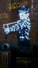 NAUGHTY BOY (Hugo D'luvly) Tags: dawlish devon england uk sony xperiaz1 cameraphone mural seaside