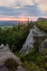 The Roaches (matrobinsonphoto) Tags: uk landscape great britain outdoors beautiful scenery countryside view roaches sunset golden hour sunlight sun light evening summer green staffordshire cheshire cliff rocks rock rocky outcrop edge millstone grit gritstone trees tree woodland wood forest