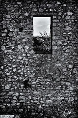 All In All It Are Not Only Bricks In The Wall (Alfred Grupstra Photography (bussy until 30 octobe) Tags: bw blackandwhite stones wall window ohrid macedonivjrm mk carsamoilsfortress