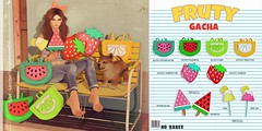 Ninety - Frtuy Gacha @ The Project Se7en (zzombiehill) Tags: fruit mesh 3d second life ninety watermelon 100 original backpacks cherrys popsicles strawberry lemon yellow green red pink candy gacha october project7 frutas summer kawaii cute food