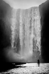 Yin and Yang (FufBea) Tags: iceland islanda skgafoss waterfall cascata water winter