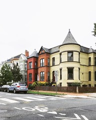Candy corn colored houses on Capitol Hill. (MozzingtonDC) Tags: victorianhouse capitolhill washington