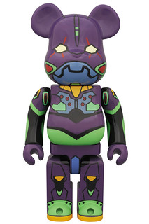 BE@RBRICK 新世紀福音戰士 初号機 Night Color Ver. 400%