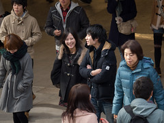Talk to me some more (kasa51) Tags: street city people japan lumix couple olympus panasonic f28 omd em5 35100mm yokokama