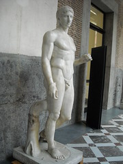 "The ""Doryphoros"" from Pompeii - End 2nd-beginning 1st century BC from Greek original by Polykleitos about 440 BC - Naples Archaeological Museum (* Karl *) Tags: italy napoli naples archaeologicalmuseum doryphoros polykleitos"
