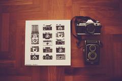 My Camera Collection (Amanda Mabel) Tags: camera wood stilllife film canon vintage lens polaroid photography singapore floor canvas strap canonae1 typo canonae1program yashica ilovephotography yashicaa vintagecameras mycameracollection fromwhereistand amandamabel amandamabelphotography
