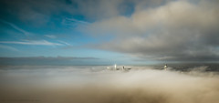 Foggy Panorama - Liverpool Explore #1 (Lee Carus) Tags: city fog liverpool radio sony alpha a99