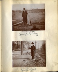 Book of Maps and Photographs showing Position of Boundary Marks: Page 64 (City of Boston Archives) Tags: boston publicworks 1896 perambulation harvardavenue historicboston josephdaly