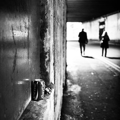 Tin Can Alley (Nick Lambert!) Tags: street blackandwhite bw scotland alley glasgow coke can streetscape nicklambert