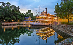 The Liberty Belle at Blue Hour (Allen Castillo) Tags: nikon disney riverboat bluehour wdw waltdisneyworld hdr themepark magickingdom libertysquare libertybelle riversofamerica photomatix cs6 nikcolorefexpro d7000