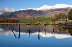 DSC_0250 January Derwentwater (wilkie,j ( says NO to badger cull :() Tags: winter snow water reflections landscape nikon scenery jetty lakes lakedistrict january scenic derwentwater nationalparks nationaltrust nationalgeographic skiddaw scenicwater sceniclandscape