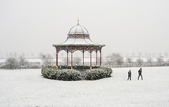 Dundee Winter Scene - Magdalen Green Bandstand in a Light Blizzard of Snow (Magdalen Green Photography) Tags: winter riverside dundee snowing tayside 0550 magdalengreenbandstand scottishwinter prettywinterscene iaingordon dundeewestend scottishwinterscene dundeewinterscene magdalengreenphotography snowingindundee lightblizzardofsnow
