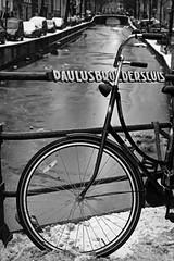 Paulus Broedersluis (Iam Marjon Bleeker) Tags: winter holland amsterdam bike bicycle iceonthecanal oudezijdsachterburgwal winterinamsterdam paulusbroedersluis martinwinter1142g oudezijdsachterburgwalhoekdamstraat