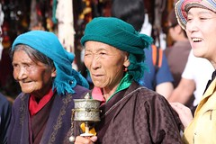 Tibetans around the Jokhang (10b travelling) Tags: china woman asian women asia tibet himalaya lhasa jokhang worshipper himalayas himalayan 2010 carstentenbrink iptcbasic