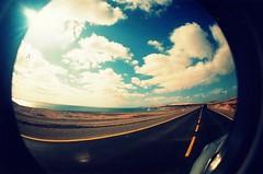 Lomophoto-Fuerteventura (Life_is_Love81) Tags: costa clouds lomo strada nuvole mare fuerteventura fisheye cielo viaggi islascanarias surftrip corralejo canarie lomophoto playasgrandes