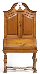 20. Antique Continental Pine Secretary Bookcase