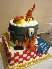 DSCN2483 (Pastries by Design) Tags: cooking cake carved shaped pot lobster tiered