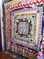 Medallion Quilt (carriestrine) Tags: medallion handpieced