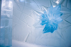 Ice Hotel (Minna Verde) Tags: blue winter sky people white snow cold art ice architecture hotel design dragon sweden kiruna carvings icehotel jukkasjrvi northcountry ishotellet ishotell