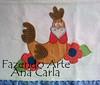 pano de prato galinha cocoricó (Ana Carla_Fazendo Arte) Tags: flores frutas galinha cupcake patchwork cozinha