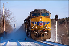 Weston Coal, ESS Dalton (3 of 3) (Philip_Martin) Tags: up wisconsin train adams pacific dwarf union line searchlight coal ge load signal wi weston 5616