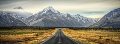 e m e r g e | mount cook, new zealand [explore] (elmofoto) Tags: road newzealand mountain snow grass lines yellow clouds landscape nikon fav50 roadtrip explore workshop valley glaciers asphalt southernalps aotearoa hdr moraine lakepukaki pf 500v gettyimages d800 mountcook aoraki hittheroad fav25 fav100 cs6 explored lr4 stuckincustoms fav75 tasmanriver treyratcliff nikond800 elmofoto queenstownadventure