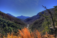 Down River  9/52 (Danny Buxton) Tags: blue winter tower hiking mark 5d gorge wilderness rugged ii blue county gorge sky area canon 2013 trail mygearandme mygearandmepremium photographyforrecreation burke linville rememberthatmomentlevel1 16mm35mm babel