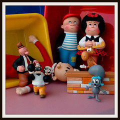 Generations (John 3000) Tags: art toys comic cartoon rocky nancy strips popeye juguetes bullwinkle wimpy sluggo jayward bluto felixthecat sweepea thimbletheater fritziritz
