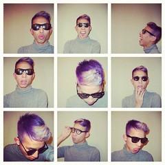 Purple Haze (TNguyen1989) Tags: sunglasses hair asian fun purple curls lips twink blond turtleneck filtered instagram