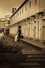 _DSC1772 (Kohji Iida) Tags: street portrait bicycle silhouette japan lady shopping photography japanese 50mm nikon bokeh gear 18 hang kohji tsuchiura ibaraki manabe iida d90