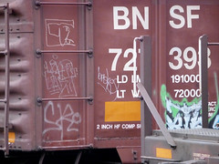 boxhound (QsySue) Tags: seattle railroad digital train lumix graffiti tag traintracks panasonic traincar pointandshoot digitalcamera washingtonstate railroadtracks railroadcar moniker digitalpointandshoot boxhound panasoniclumixdmczs8
