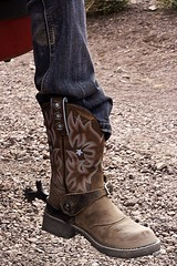 01808-46-Cowgirl Boots (Jim There's things half in shadow and in light) Tags: woman color girl person boot spurs leg jeans cowgirl ilobsterit