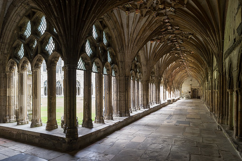 cloister, Canterbury Cathedral, Canterbu by Xavier de Jauréguiberry, on Flickr