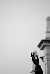 match point (Sili[k]) Tags: madrid blackandwhite bw byn blancoynegro statue ball nikon hand almudena minimal mano conceptual bola duotoned estatua duotono d3000