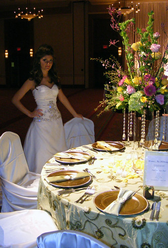 Bride Admires the Table