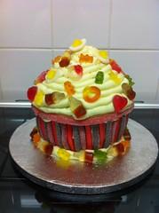 Giant Sugar Candy Cupcake