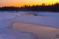 Sunset in Raitajrvi (Wiking66) Tags: mars snow ice photoshop river stream pentax sweden sverige hdr patrik lule verkalix norrbotten engman cs6 vertorne k20d thebestofday gnneniyisi ritajrvi