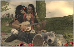 VeronicaLynn and Skip~Singing for you....  (sorry if it was off-key :P ) (***Skip Staheli, fully booked***) Tags: friends cute love spring couple close emotion sl secondlife romantic feelings skipstaheli veronicalynnparx