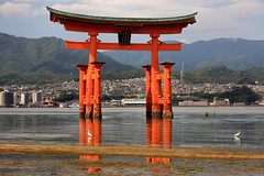 Itsukushima Shrine, a UNESCO World Heritage Site, Itsukushima Island (Miyajima), Near Hiroshima, Japan (Black Diamond Images) Tags: japan unescoworldheritagesite hiroshima miyajima itsukushimashrine shintoshrine hiroshimaprefecture itsukushimaisland hatsukaichi