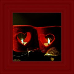 Burning Hearts (ottosohn) Tags: red stilllife rot love germany square gold stillleben heart anniversary felt herz kerzen liebe candellight filz oldlove homestudio jahrestag kennenlerntag trynka ottosohn mygearandme mygearandmepremium mygearandmebronze
