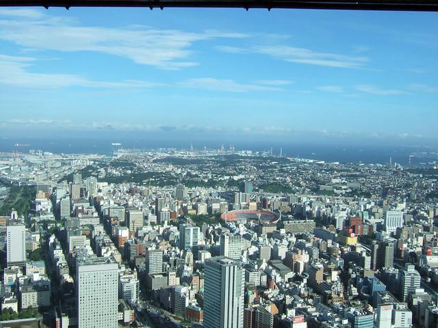 さすが横浜、海が見えます。|スカイガーデン