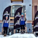Field 1st, Gartner 2nd on U18 podium, final GS at Sun Peaks Van Houtte Cup PHOTO CREDIT: Gregor Druzina