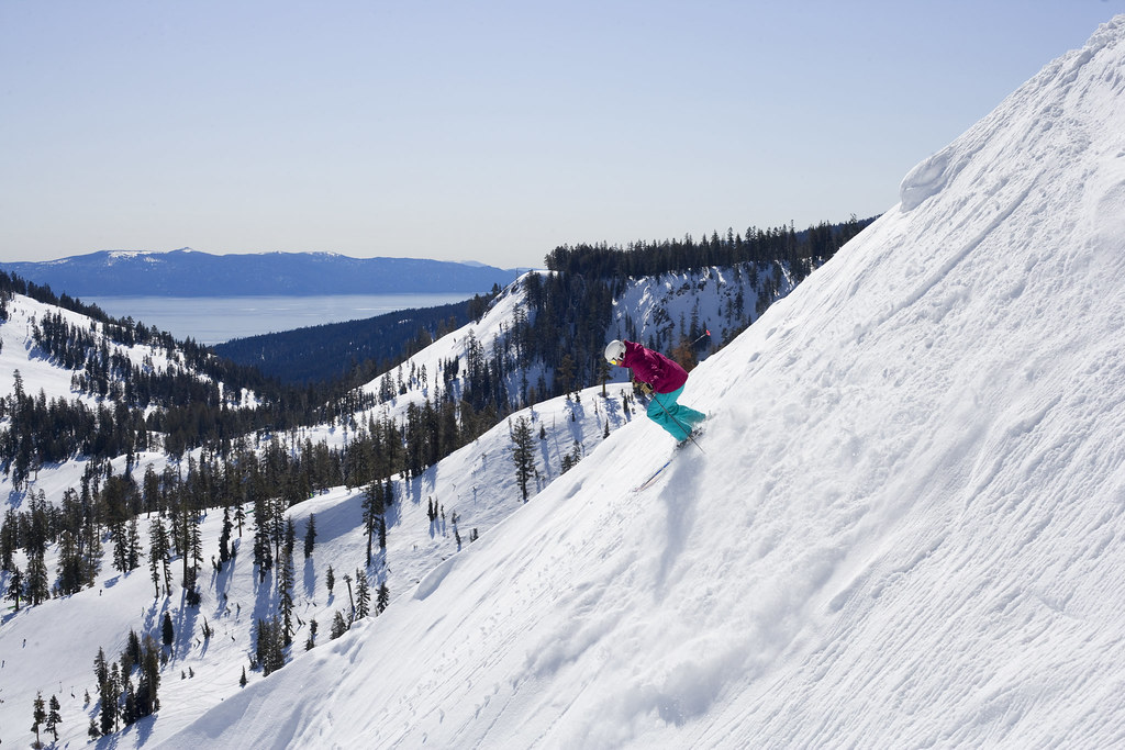 wide open bowls and sunny skies at Alpine