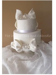 nicole (The Whole Cake and Caboodle ( lisa )) Tags: wedding cakes cake stand nicole bow mortimer diamante caboodle