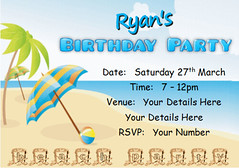 i118j beach party (Locketmaid) Tags: show birthday girls boy party castle beach boys girl face kids painting balloons disco kid puppet slumber clown magic climbing invitation childrens invite bouncy sleepover invites invitations magician