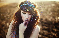 infinite (danaxxmarie) Tags: park sunset portrait colors girl field golden colorful bokeh farm being creative confetti hour brunette peck infinite backlighting headband perks prarie wallflower danaxxmarie