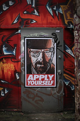 Apply yourself (williecb750) Tags: vancouver graffiti walterwhite breakingbad byrancranston
