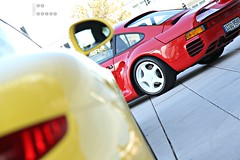 Red Icon (JuRB-photos) Tags: red detail yellow canon germany eos stuttgart 911 icon porsche carrera combo ger 991 959 eos60 canoneos60d