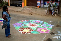 18 (akila venkat) Tags: street art colours patterns bangalore rangoli indianart