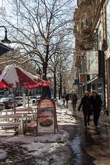 This week is the beginning of spring / Diese Woche ist der Beginn des Frhlings (S. Ruehlow) Tags: schnee snow spring leute frankfurt menschen passat bume baum frankfurtammain frhling spaziergang ffm bahnhofsviertel passanten frankfurtam frhlingsbeginn schneemassen kaiserstrase